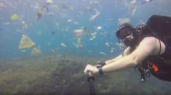 Buceando en un mar de basura: El vídeo que te hará recapacitar sobre la