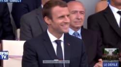 VIDEO: La cara de felicidad de Macron al escuchar una canción de Daft