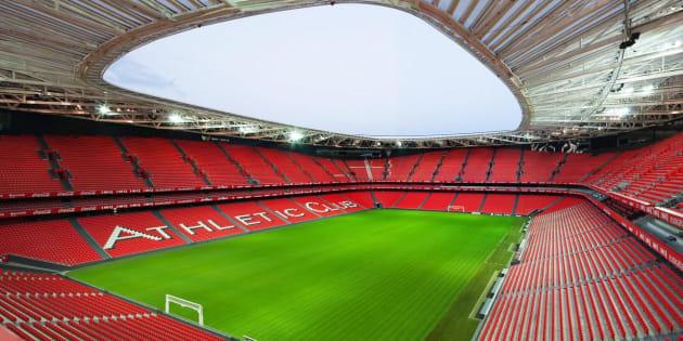 Vista general del nuevo estadio de San Mamés, en Bilbao.