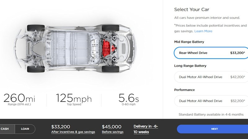 Tesla On Thursday Introduced A New 45 000 Version Of Its Model 3 Sedan Website Launching The Car As U S Tax Breaks For Cars Are About To