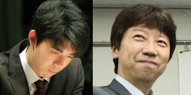 藤井聡太六段(左)と杉本昌隆七段