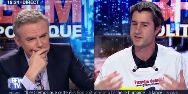 """""""Nous devons préparer la démocratie de demain: va-t-elle ressembler à ça, à cette haine sectaire? Alors je n'en veux pas, et des millions de Français, plein de bon sens, en seront écœurés également."""", écrit François Ruffin sur sa page Facebook."""
