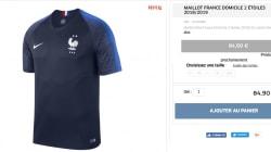 Le maillot de l'équipe de France à 2 étoiles déjà épuisé sur la boutique de la