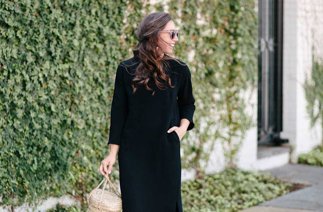 4519e714d94a Street style tip of the day  Black midi dress - AOL Lifestyle