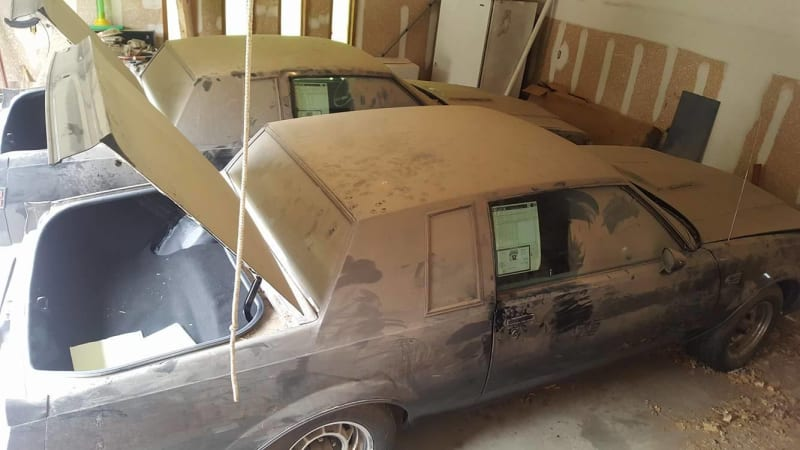 Two nearly new 1987 Buick Grand National 'twins' found in garage after 30 years