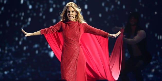 Edurne, durante su actuación en Eurovisión.