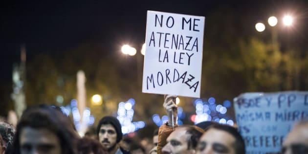 Imagen de la protesta de 'Rodea el Congreso' contra la Ley Mordaza, en diciembre de 2013.
