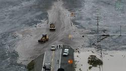 Les images du glissement de terrain qui a paralysé le