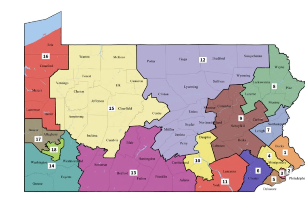 reuters pennsylvania s top court published a new map of u s congressional voting districts for the state on monday after democratic and republican