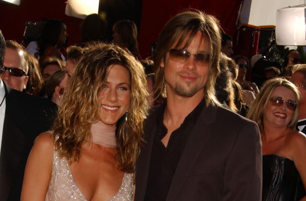Emmy Awards 2002 Throwback Jennifer Aniston And Brad Pitt