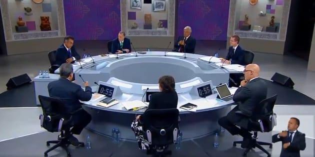 Durante el tercer debate, uno de los bloques era crecimiento económico.