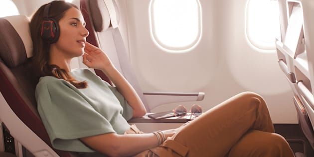 Assentos de classe econômica premium trazem mais conforto aos passageiros.