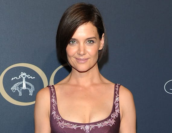 Katie Holmes wows in lavender gown