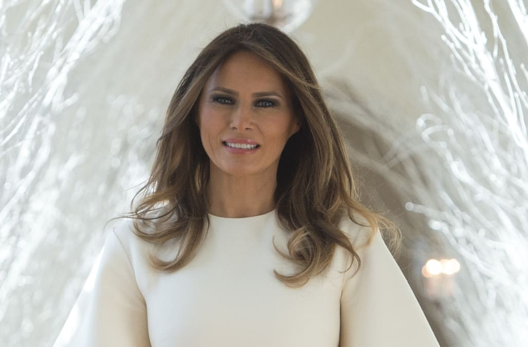 melania trump unveils white house christmas decorations in dior showstopper - Melania Trump Christmas Decorations