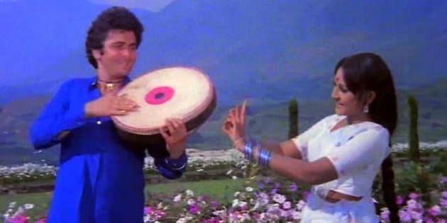 A still from the film 'Sargam', starring Rishi Kapoor and Jaya Prada; directed by Kasinadhuni Viswanath.