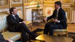 Renzi un'ora a colloquio con Macron: