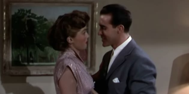 """A photo from the 1949 film """"Neptune's Daughter,"""" in which the original """"Baby, It's Cold Outside"""" duet was sung."""