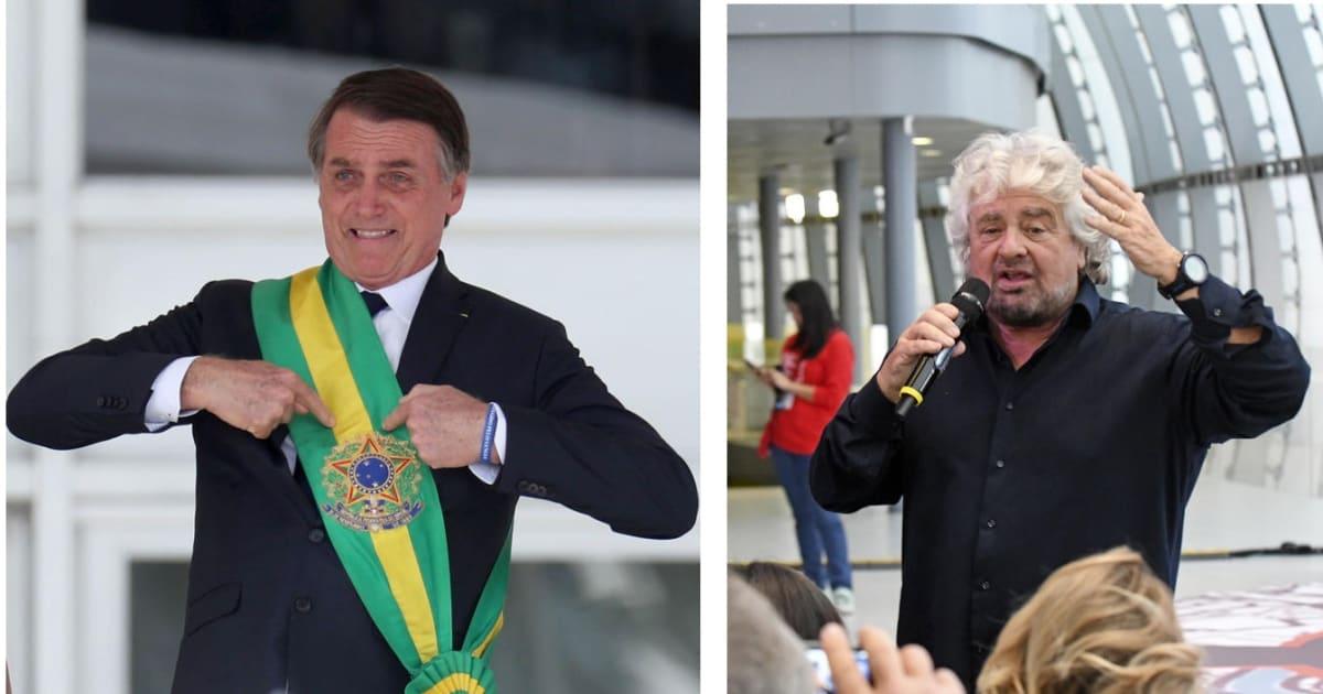 """Beppe Grillo attacca Bolsonaro: """"Mette a rischio le popolazioni dell'Amazzonia"""""""