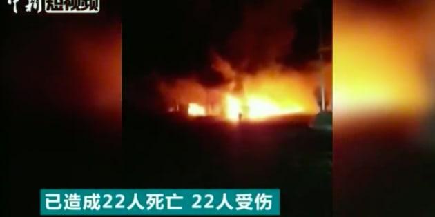 Explosion à Zhangjiakou en Chine