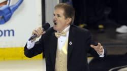 Rene Rancourt, l'interprète des hymnes nationaux pour les Bruins, se