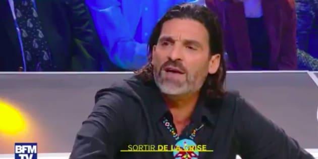 Xavier Mathieu sur le plateau de BFM mercredi 5 décembre