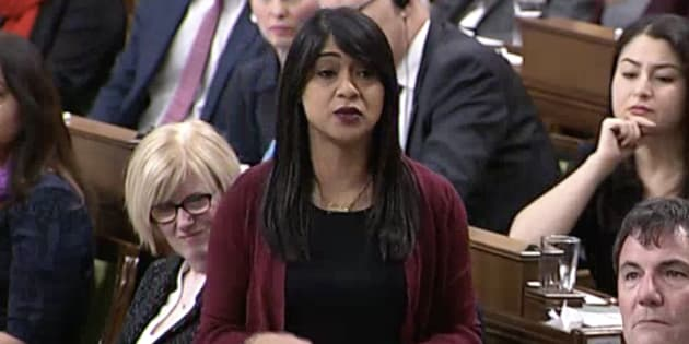Government House Leader Bardish Chagger speaks in the House of Commons on Dec. 13, 2018.