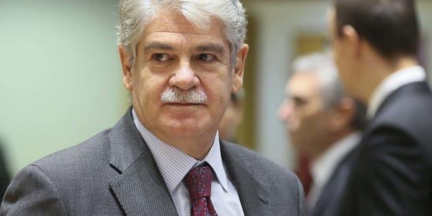 El ministro de Exteriores, Alfonso Dastis, durante una reunión en Bruselas (Bélgica) el pasado febrero.