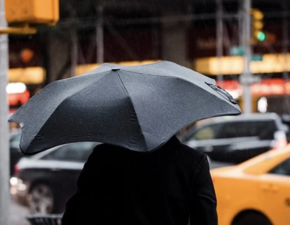 This umbrella is wind-resistant and GPS-ready