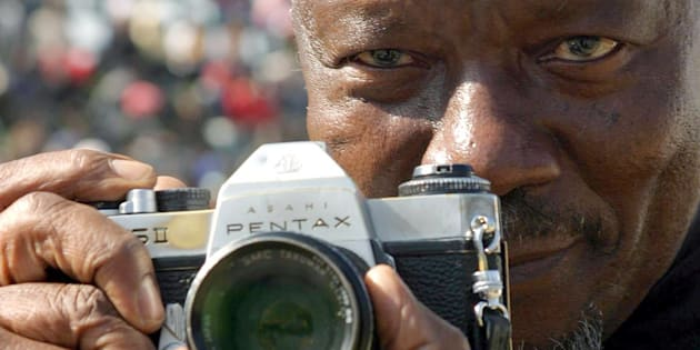 June 16, 2005. South African photographer Sam Nzima, the photographer who took the famous Hector Peterson picture, at Youth Day celebrations.