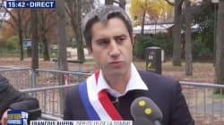Devant l'Élysée, Ruffin demande à Macron de