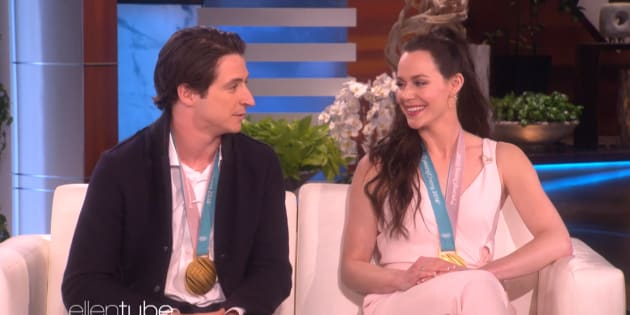 "Scott Moir and Tessa Virtue discuss their love life on ""The Ellen DeGeneres Show."""