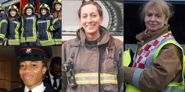 ハナー・サマーズさんの投稿へのレスポンスで紹介された女性消防士たち