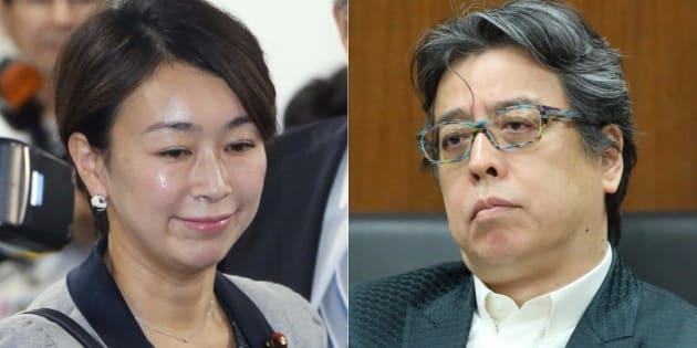 山尾志桜里氏(左)と小林よしのり氏