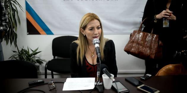 La diputada Ana Míriam Ferráez en conferencia ofreció disculpas sobre su declaración el día de ayer donde proponía un toque de queda para mujeres después de las 10 de la noche.
