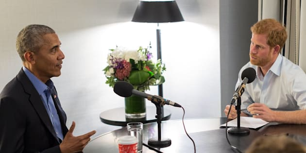 Prince Harry interviews Barack Obama for a BBC Radio 4 program.