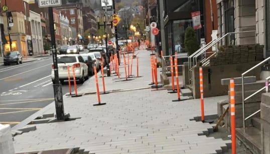Montréal: les trottoirs avant les nids de