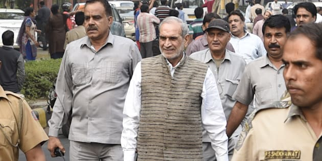 Congress leader Sajjan Kumar in a file photo.