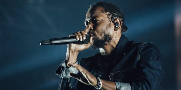 Kendrick Lamar lors du dernier Festival d'été de Québec.
