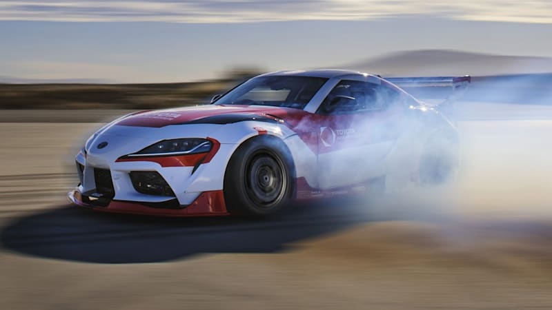 Toyota builds an autonomous drift Supra to develop advanced driver assistance systems