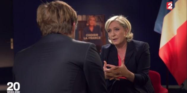 """Marine Le Pen l'assure, elle n'a """"hérité de rien"""" et elle se """"sent du peuple"""""""