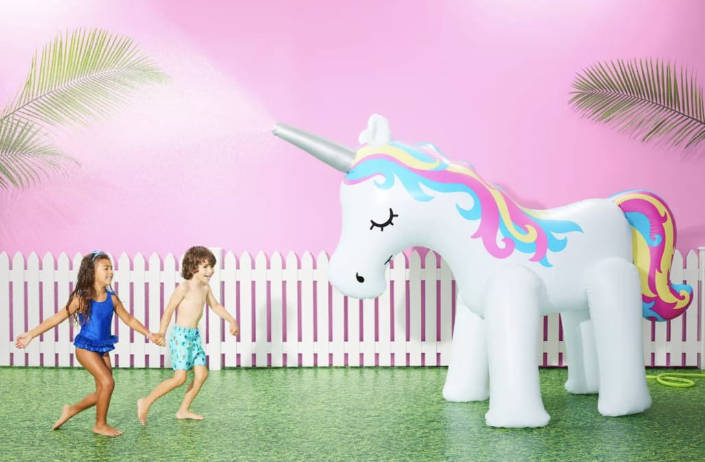 Beat the heat with this adorable inflatable unicorn