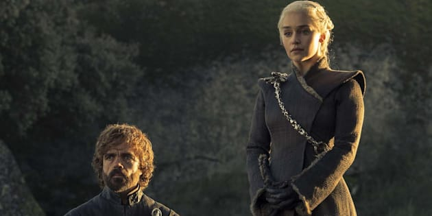 Daenerys (Emilia Clarke) et Tyrion (Peter Dinklage) dans la saison 7 de Game of Thrones.