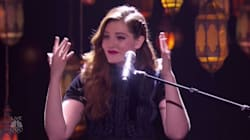 L'interprétation de cette chanteuse sourde est digne de l'émouvante scène de la