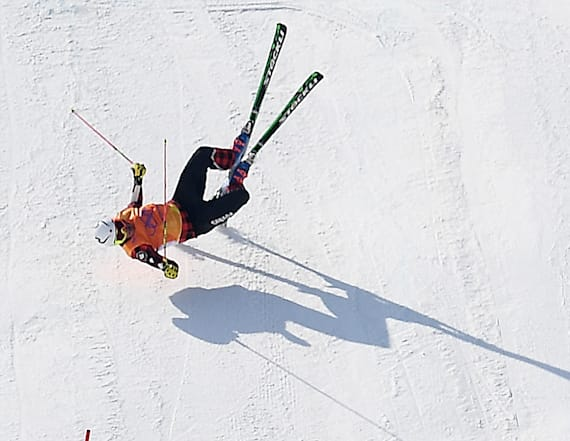 2 skiers hospitalized after crash-ridden run