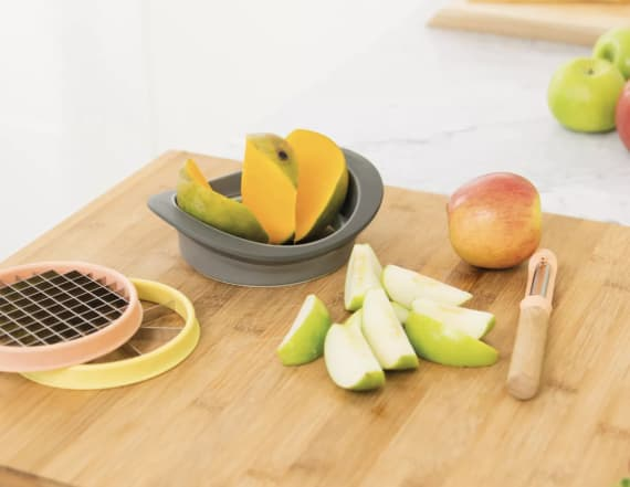 This 3-in-1 slicer set makes cutting up produce easy