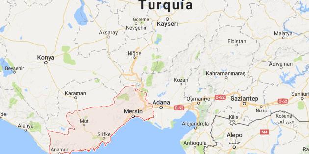 Mapa de situación de Mersin, donde se ha producido el intento de atentado de esta mañana.