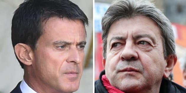 Jean-Luc Mélenchon et Manuel Valls ne ratent plus une occasion de dire tout le mal qu'ils pensent l'un de l'autre.