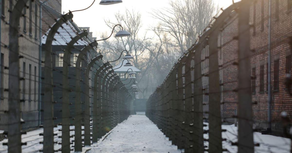 Raduno di estrema destra polacca davanti ad Auschwitz