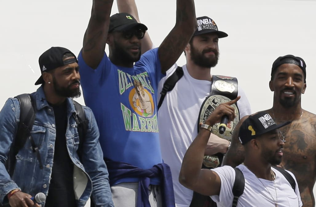 58d442335ea9 LeBron James finally explained the real reason he wore that 'Ultimate  Warrior' T-Shirt - AOL News