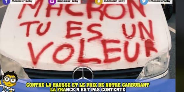 """La """"chanson des gilets jaunes"""" de Monsieur Seby totalisait 1,6 million de vues sur Facebook, ce matin du lundi 19 novembre."""